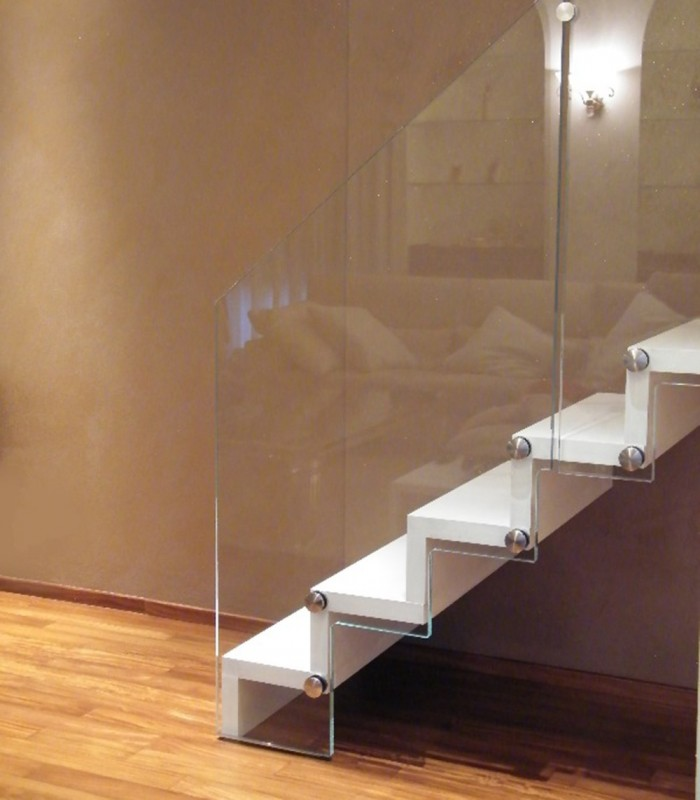 Scale per interni acciaio legno modena e verona wall s - Scale d interni ...