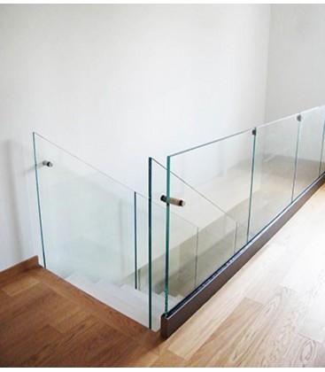 PURE GLASS - FISSAGGIO A PAVIMENTO
